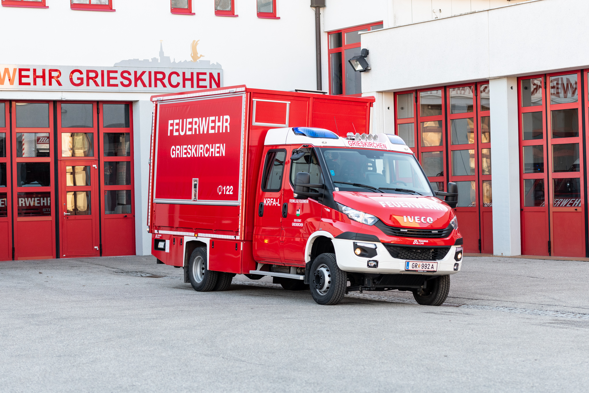 Kleinrüstfahrzeug-Logistik