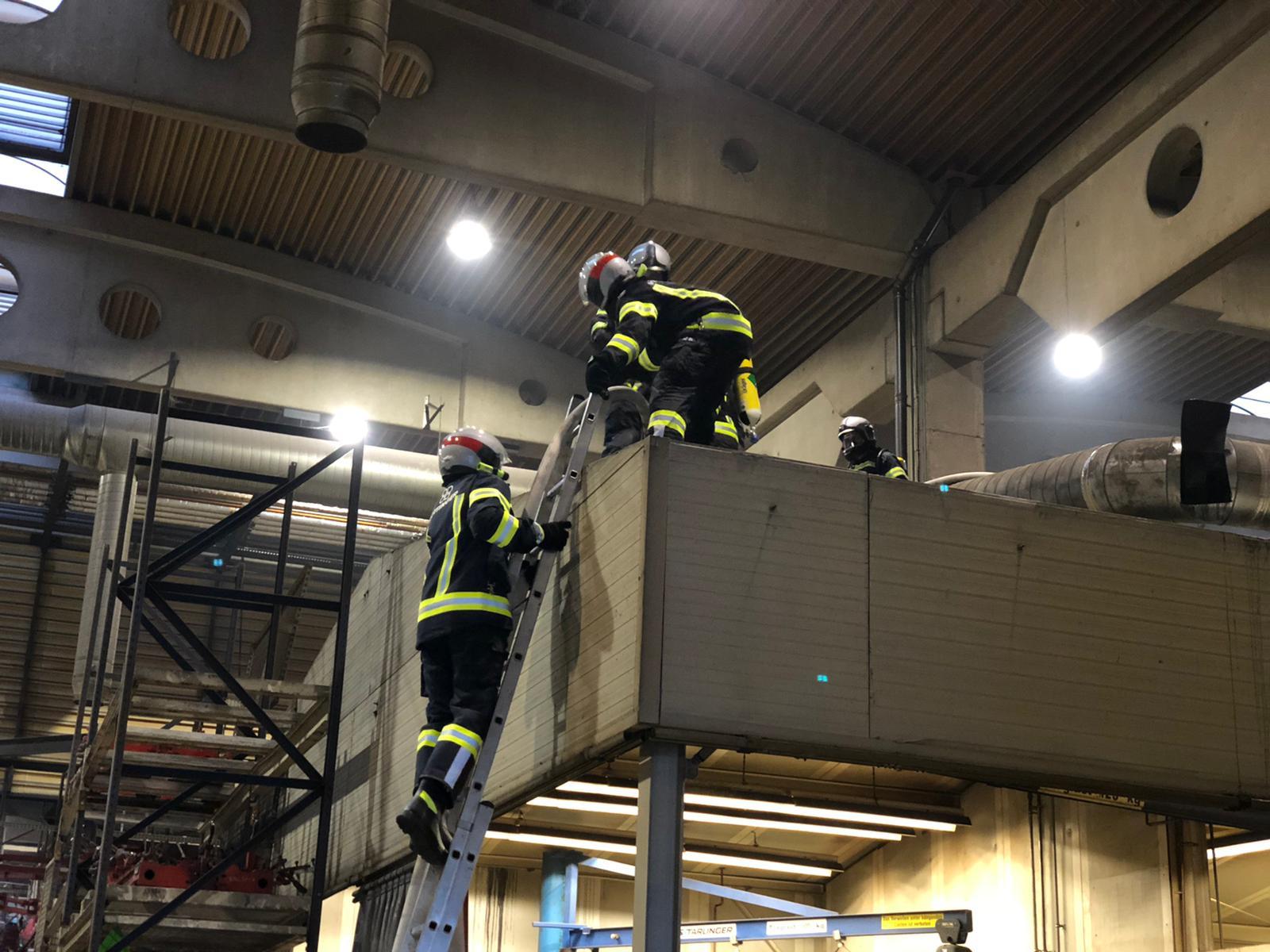 Brand in einem Industriebetrieb